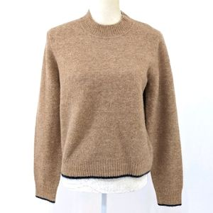 Vince Tan & Navy Contrast Pullover Sweater L